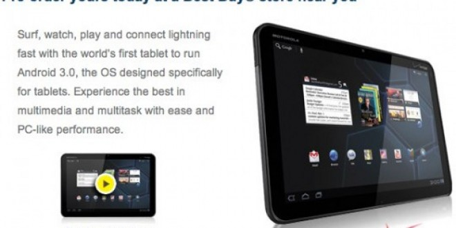 Motorola Xoom available for Pre-order on Best Buy , shipping starts 24th Feb