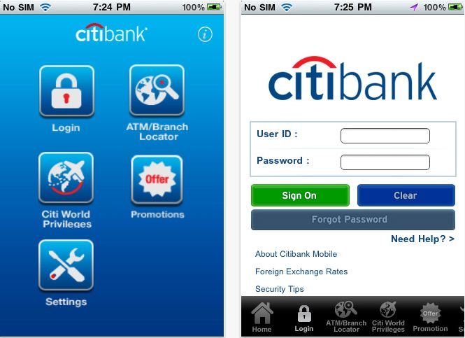 citibank android app