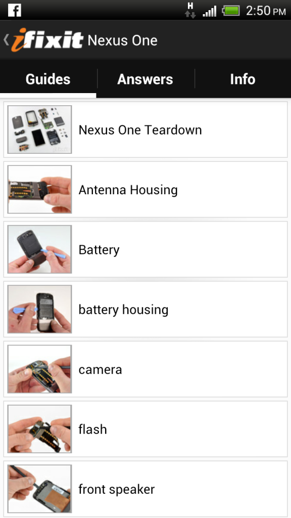 iFixit repair manual android app review