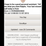 Siri look out! Sagan Voice actions android app review