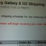 verizon shipping galaxy s III