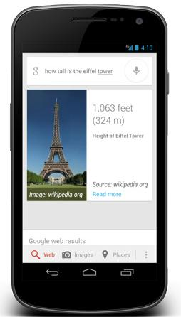 Jelly Bean Google Now features demoed