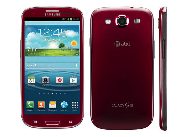 samsung galaxy S III colors - RED