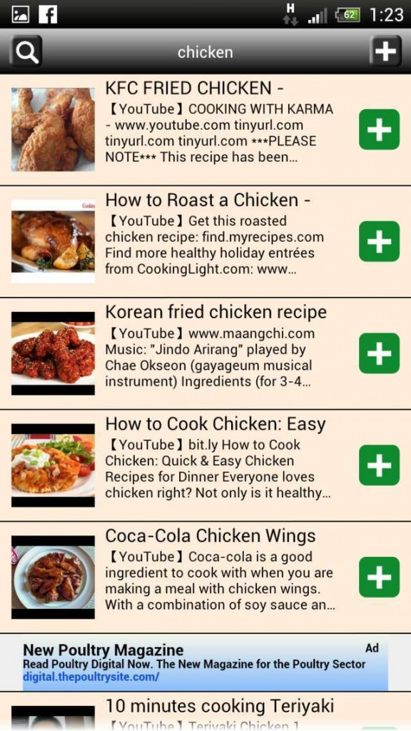 recipe search android cooking book review