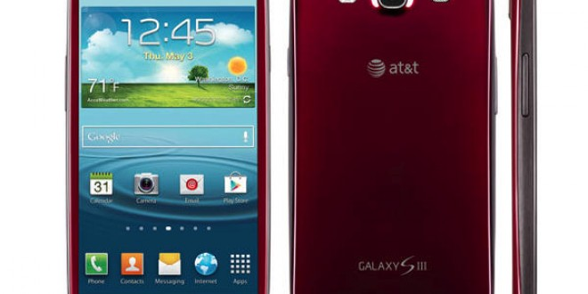 Garnet Red color for Samsung Galaxy S III exclusive on AT&T- Pre orders starting soon